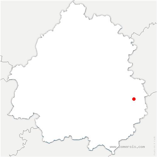 carte de localisation de Paulin