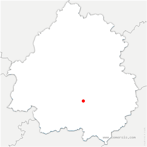 carte de localisation de Paunat