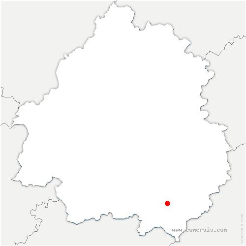 carte de localisation de Pays-de-Belvès