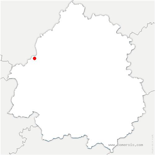 carte de localisation de Petit-Bersac