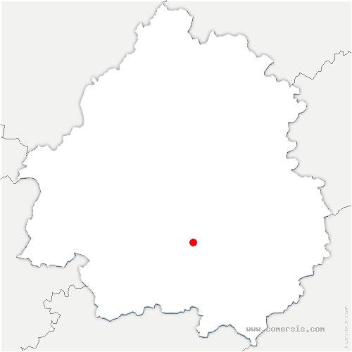 carte de localisation de Pezuls