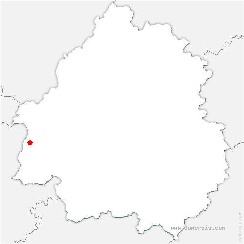 carte de localisation de Pizou