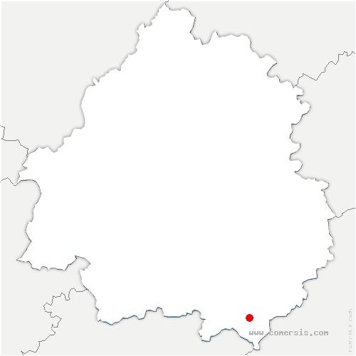 carte de localisation de Prats-du-Périgord