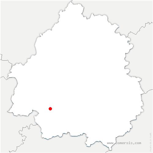carte de localisation de Prigonrieux