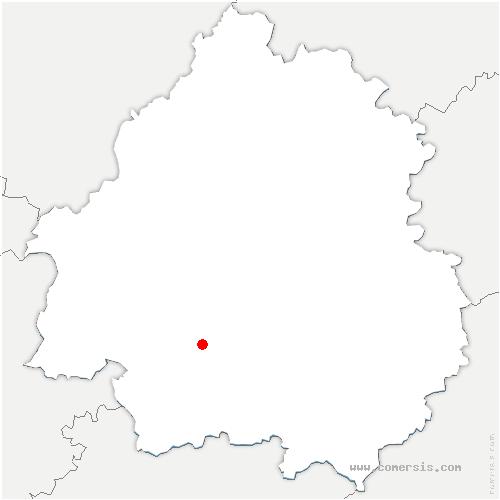carte de localisation de Queyssac