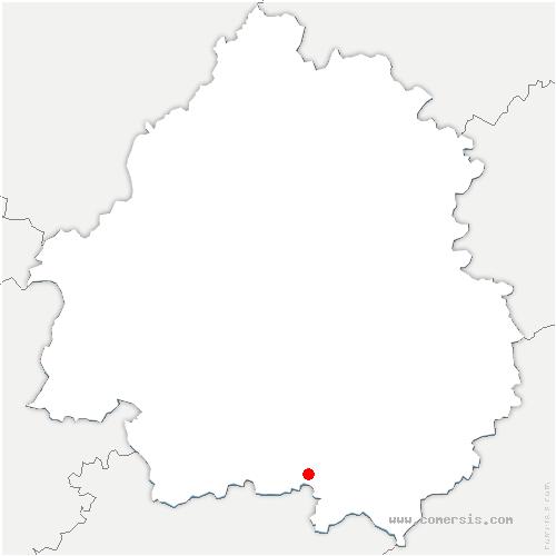 carte de localisation de Rampieux