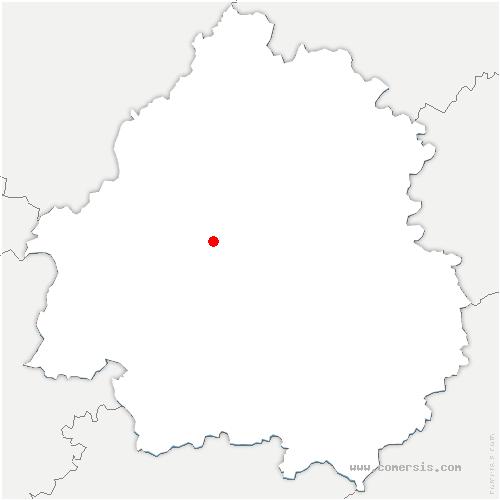 carte de localisation de Razac-sur-l'Isle