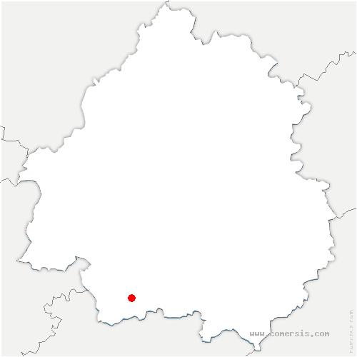 carte de localisation de Ribagnac