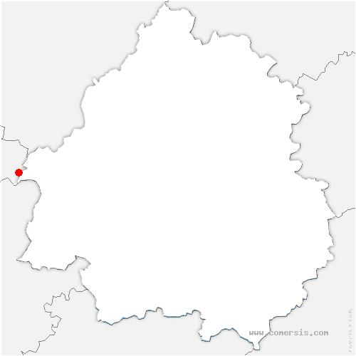 carte de localisation de Roche-Chalais
