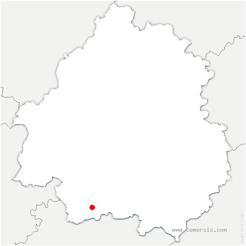 carte de localisation de Sadillac