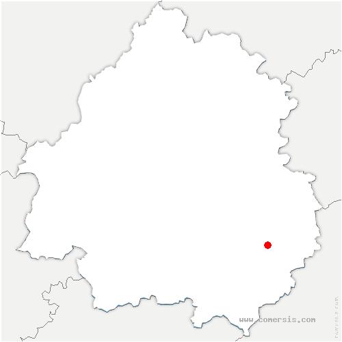 carte de localisation de Saint-André-d'Allas