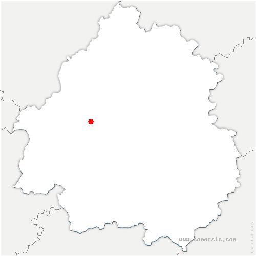 carte de localisation de Saint-Astier