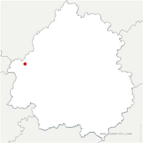 carte de localisation de Saint-Aulaye-Puymangou