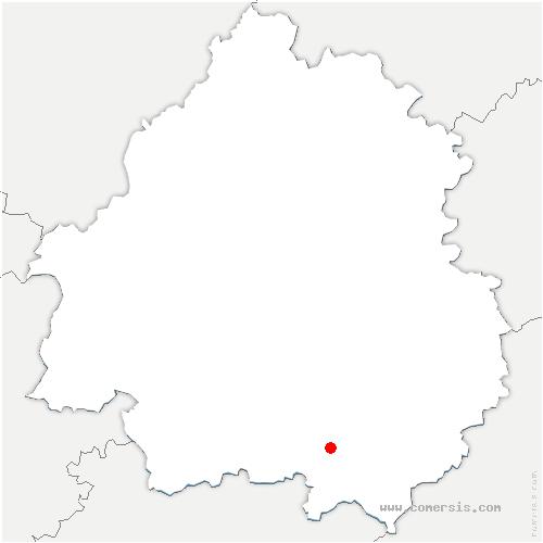carte de localisation de Saint-Avit-Rivière