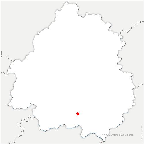 carte de localisation de Saint-Avit-Sénieur