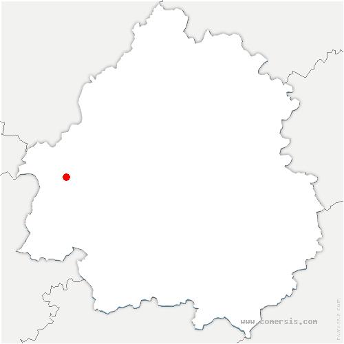 carte de localisation de Saint-Barthélemy-de-Bellegarde
