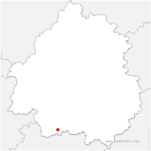 carte de localisation de Saint-Capraise-d'Eymet