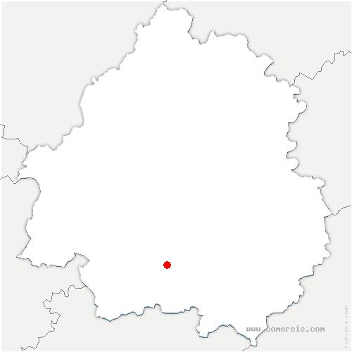 carte de localisation de Saint-Capraise-de-Lalinde