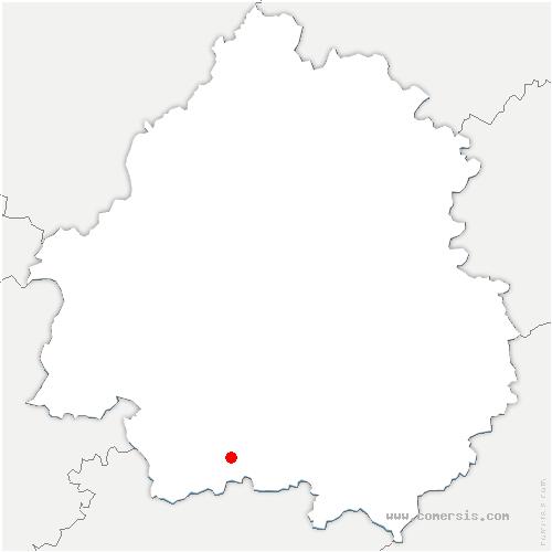 carte de localisation de Saint-Cernin-de-Labarde