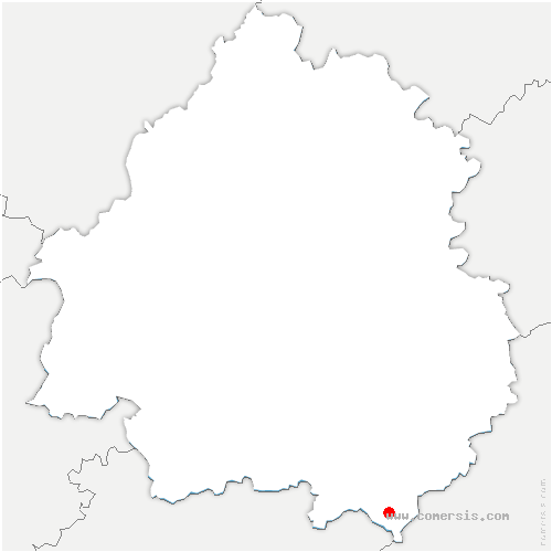 carte de localisation de Saint-Cernin-de-l'Herm
