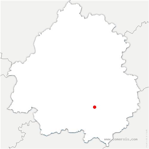 carte de localisation de Saint-Chamassy