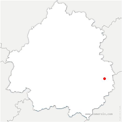 carte de localisation de Saint-Crépin-et-Carlucet