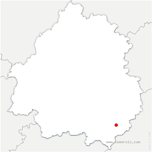 carte de localisation de Saint-Cybranet