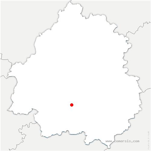 carte de localisation de Saint-Félix-de-Villadeix