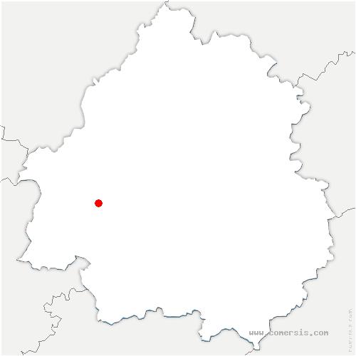 carte de localisation de Saint-Front-de-Pradoux