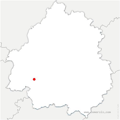 carte de localisation de Saint-Georges-Blancaneix