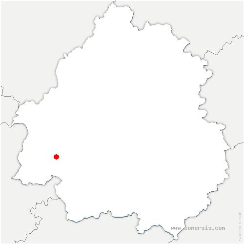 carte de localisation de Saint-Géraud-de-Corps