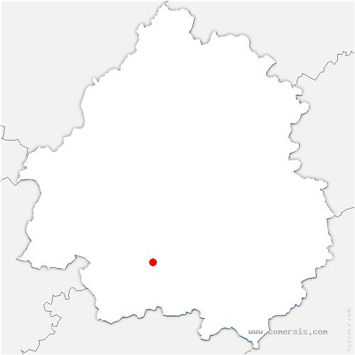 carte de localisation de Saint-Germain-et-Mons
