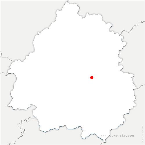 carte de localisation de Saint-Geyrac