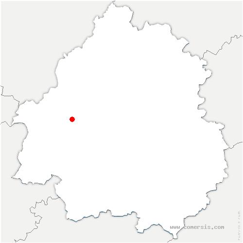 carte de localisation de Saint-Jean-d'Ataux