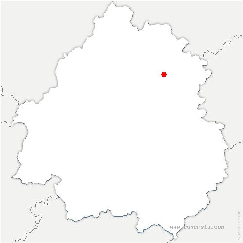 carte de localisation de Saint-Jory-las-Bloux