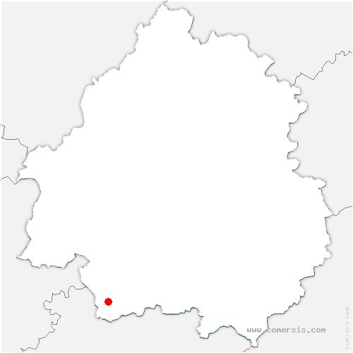 carte de localisation de Saint-Julien-Innocence-Eulalie