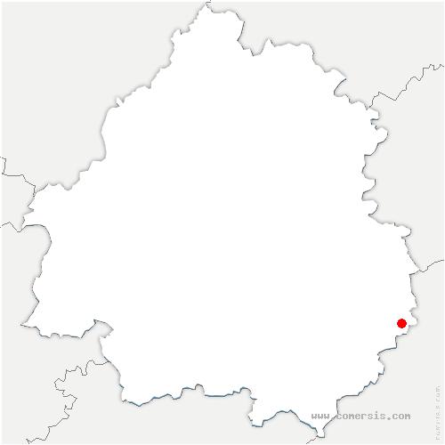 carte de localisation de Saint-Julien-de-Lampon
