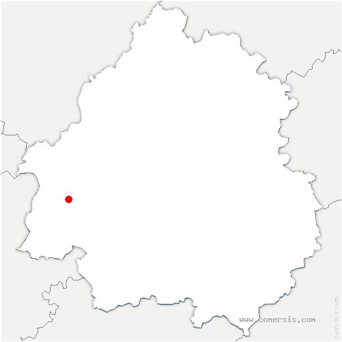 carte de localisation de Saint-Laurent-des-Hommes