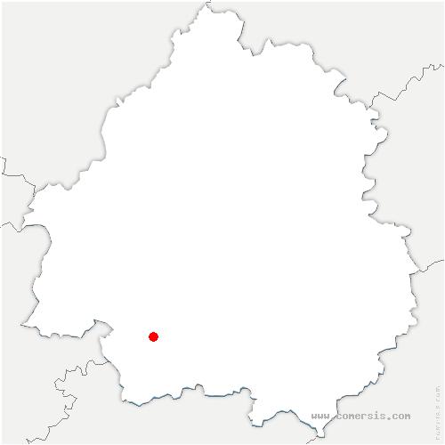 carte de localisation de Saint-Laurent-des-Vignes