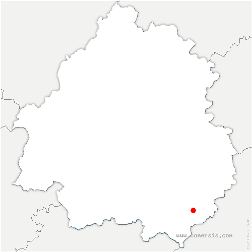 carte de localisation de Saint-Laurent-la-Vallée