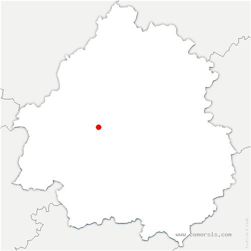 carte de localisation de Saint-Léon-sur-l'Isle