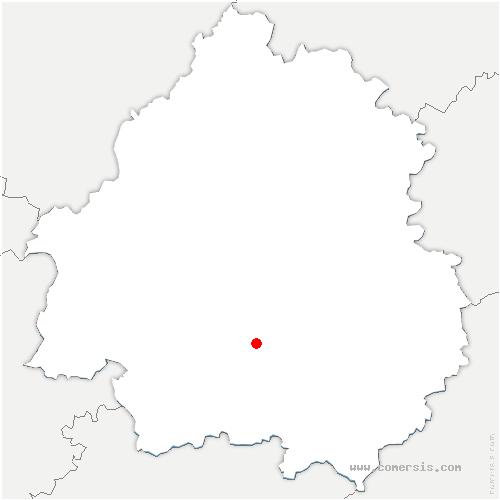 carte de localisation de Saint-Marcel-du-Périgord