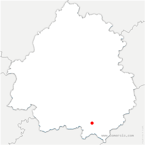 carte de localisation de Saint-Marcory