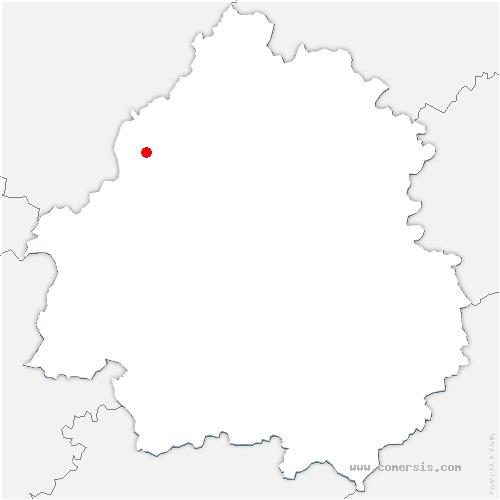 carte de localisation de Saint-Martial-Viveyrol