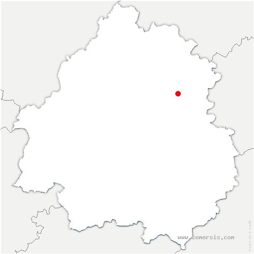 carte de localisation de Saint-Martial-d'Albarède