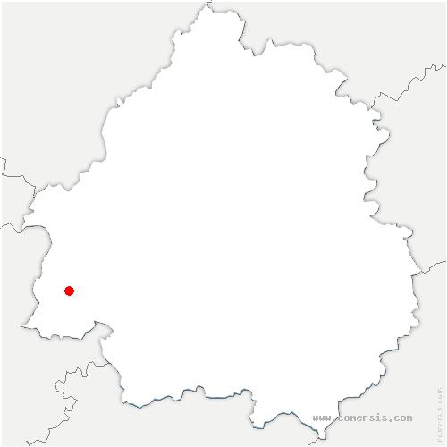 carte de localisation de Saint-Martin-de-Gurson