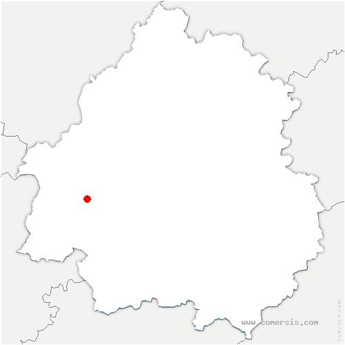 carte de localisation de Saint-Martin-l'Astier