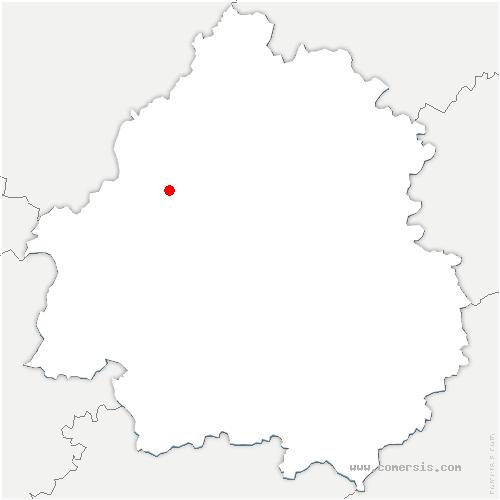 carte de localisation de Saint-Méard-de-Drône