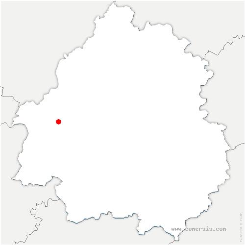 carte de localisation de Saint-Michel-de-Double