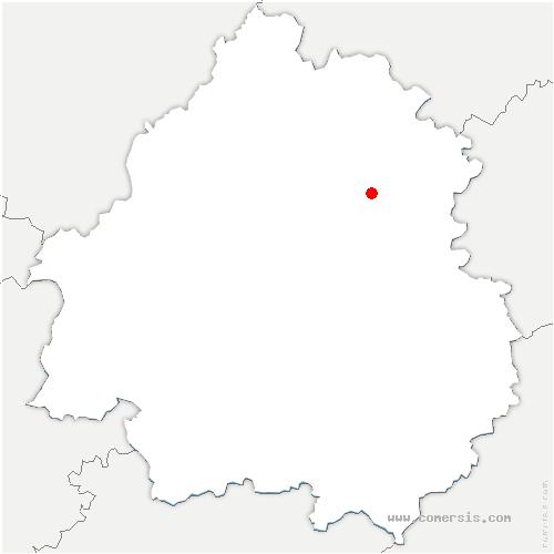 carte de localisation de Saint-Pantaly-d'Excideuil